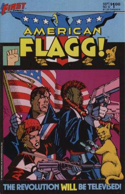 American Flagg! #12 comic books - cover scans photos American Flagg! #12 comic books - covers, picture gallery