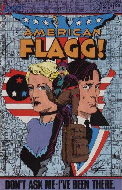 American Flagg! #13 comic books - cover scans photos American Flagg! #13 comic books - covers, picture gallery