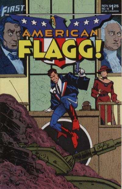 American Flagg! #14 comic books - cover scans photos American Flagg! #14 comic books - covers, picture gallery