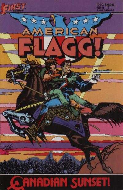American Flagg! #15 comic books - cover scans photos American Flagg! #15 comic books - covers, picture gallery