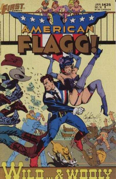 American Flagg! #16 comic books - cover scans photos American Flagg! #16 comic books - covers, picture gallery