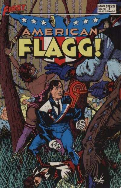 American Flagg! #18 Comic Books - Covers, Scans, Photos  in American Flagg! Comic Books - Covers, Scans, Gallery