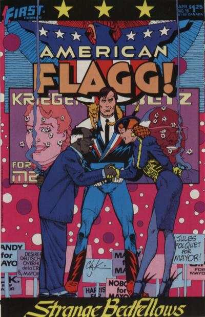 American Flagg! #19 comic books - cover scans photos American Flagg! #19 comic books - covers, picture gallery