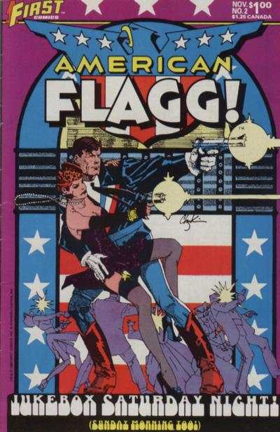 American Flagg! #2 Comic Books - Covers, Scans, Photos  in American Flagg! Comic Books - Covers, Scans, Gallery