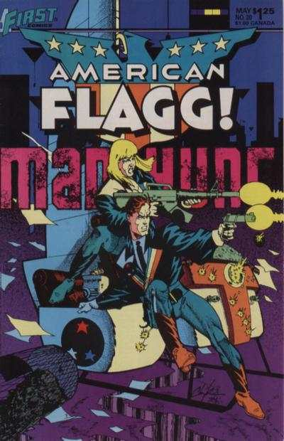 American Flagg! #20 Comic Books - Covers, Scans, Photos  in American Flagg! Comic Books - Covers, Scans, Gallery