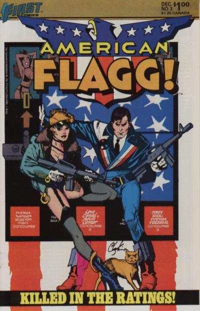 American Flagg! #3 comic books - cover scans photos American Flagg! #3 comic books - covers, picture gallery