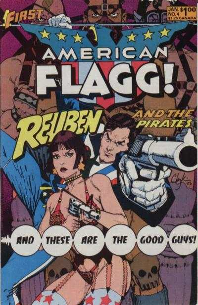 American Flagg! #4 comic books - cover scans photos American Flagg! #4 comic books - covers, picture gallery