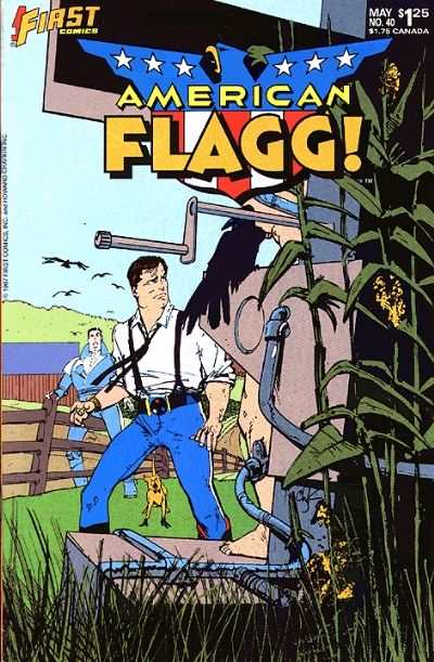 American Flagg! #40 Comic Books - Covers, Scans, Photos  in American Flagg! Comic Books - Covers, Scans, Gallery