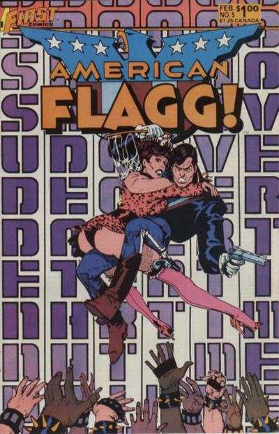 American Flagg! #5 comic books - cover scans photos American Flagg! #5 comic books - covers, picture gallery