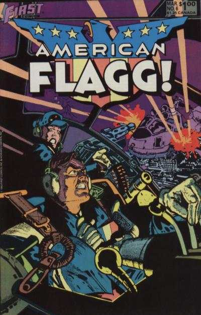 American Flagg! #6 comic books - cover scans photos American Flagg! #6 comic books - covers, picture gallery