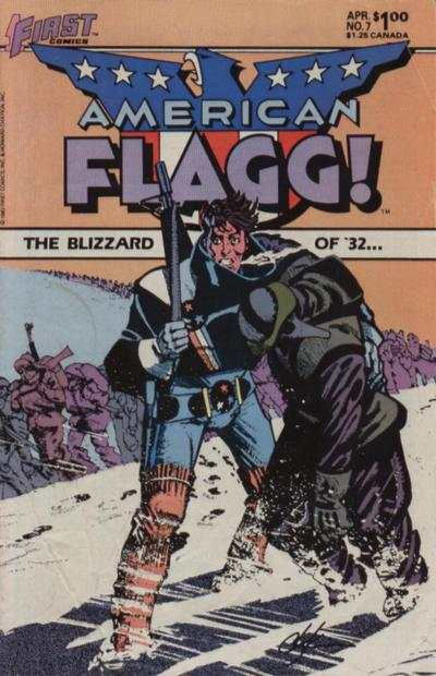 American Flagg! #7 comic books - cover scans photos American Flagg! #7 comic books - covers, picture gallery