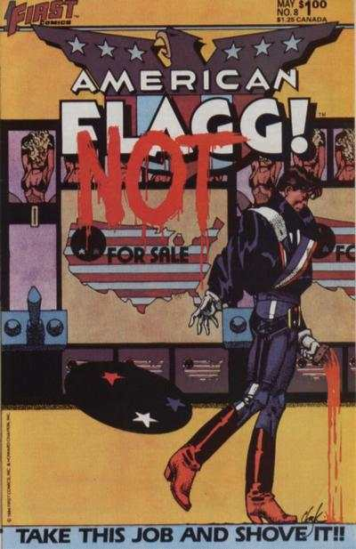 American Flagg! #8 Comic Books - Covers, Scans, Photos  in American Flagg! Comic Books - Covers, Scans, Gallery