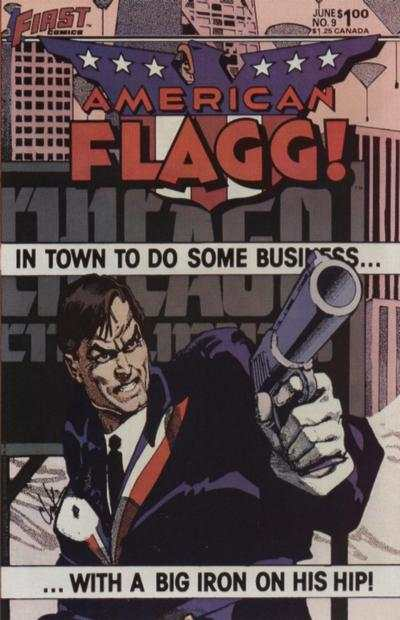 American Flagg! #9 comic books - cover scans photos American Flagg! #9 comic books - covers, picture gallery
