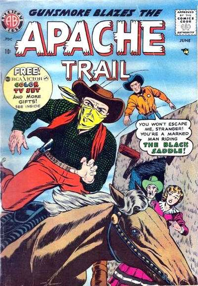 Apache Trail #4 comic books - cover scans photos Apache Trail #4 comic books - covers, picture gallery