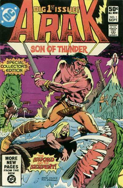 Arak/Son of Thunder #1 comic books - cover scans photos Arak/Son of Thunder #1 comic books - covers, picture gallery