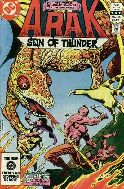 Arak/Son of Thunder #25 comic books - cover scans photos Arak/Son of Thunder #25 comic books - covers, picture gallery