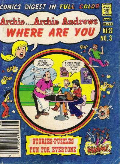 Archie: Archie Andrews Where are You Comics Digest Magazine #3 comic books - cover scans photos Archie: Archie Andrews Where are You Comics Digest Magazine #3 comic books - covers, picture gallery