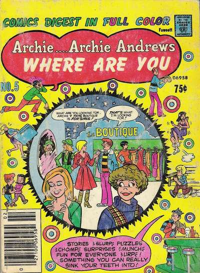 Archie: Archie Andrews Where are You Comics Digest Magazine #5 comic books for sale