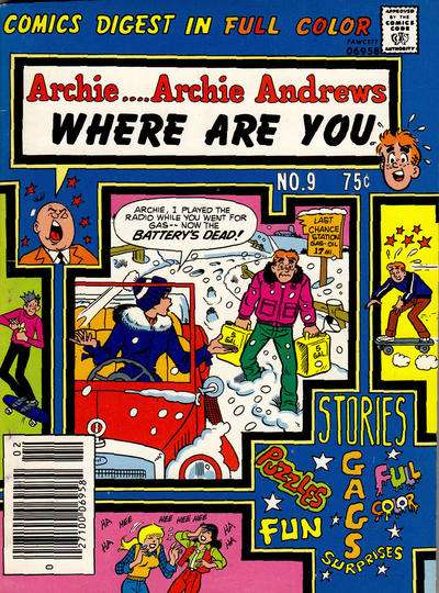 Archie: Archie Andrews Where are You Comics Digest Magazine #9 comic books - cover scans photos Archie: Archie Andrews Where are You Comics Digest Magazine #9 comic books - covers, picture gallery