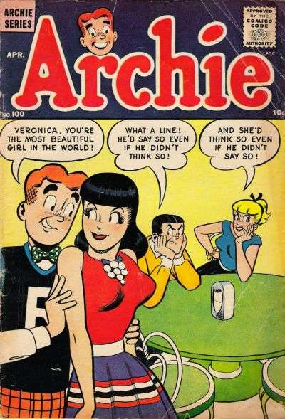 Archie Comics #100 Comic Books - Covers, Scans, Photos  in Archie Comics Comic Books - Covers, Scans, Gallery