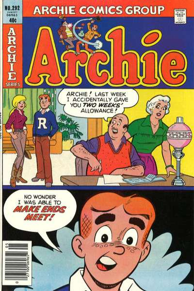 Archie Comics #292 cheap bargain discounted comic books Archie Comics #292 comic books