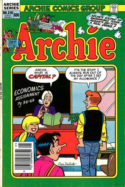 Archie Comics #316 comic books for sale
