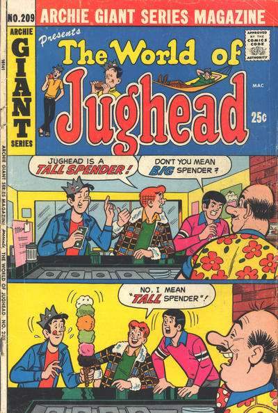 Archie Giant Series Magazine #209 comic books for sale