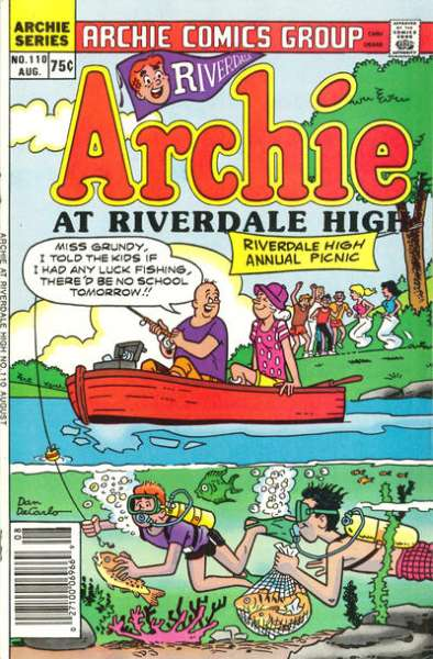 Archie at Riverdale High #110 comic books for sale