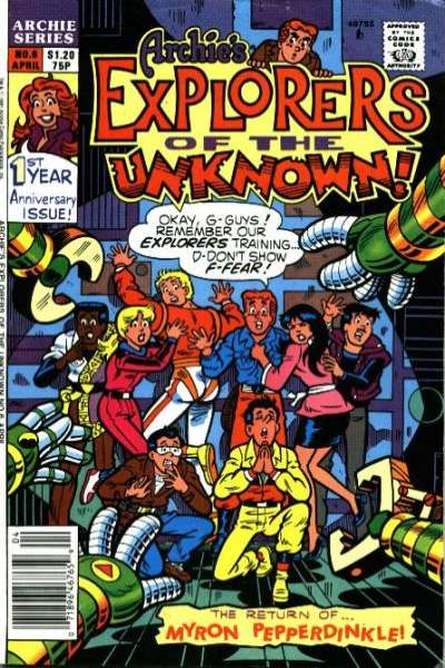 Archie's Explorers of the Unknown #6 Comic Books - Covers, Scans, Photos  in Archie's Explorers of the Unknown Comic Books - Covers, Scans, Gallery