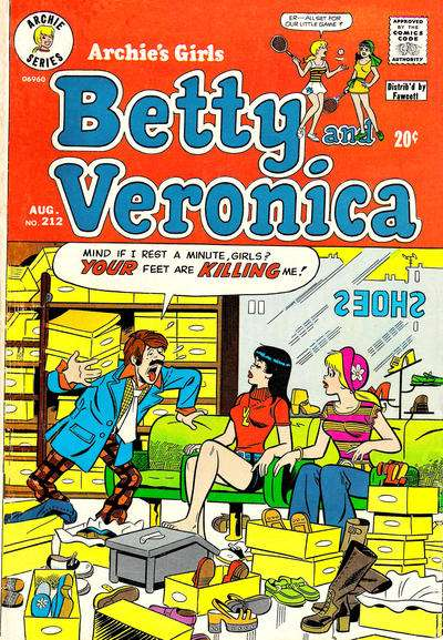 Archie's Girls: Betty and Veronica #212 comic books for sale