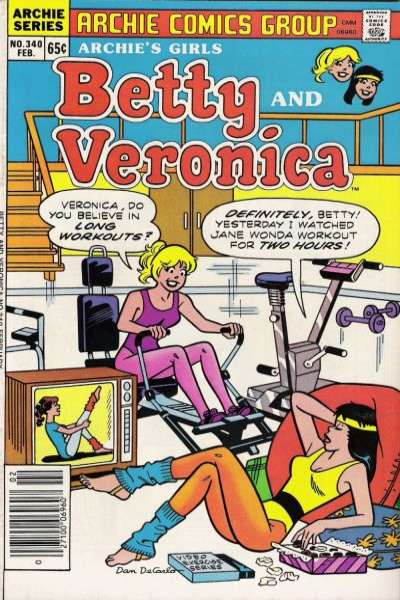 Archie's Girls: Betty and Veronica #340 Comic Books - Covers, Scans, Photos  in Archie's Girls: Betty and Veronica Comic Books - Covers, Scans, Gallery