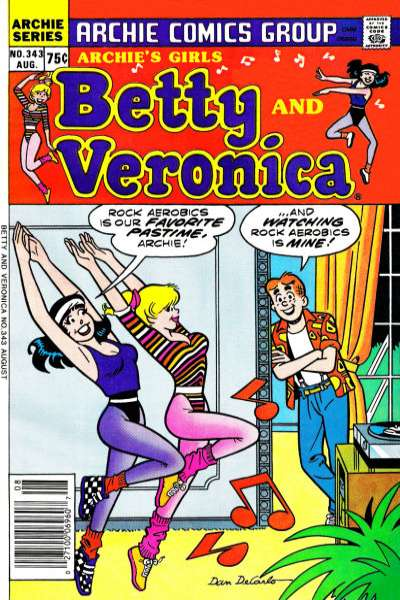 Archie's Girls: Betty and Veronica #343 Comic Books - Covers, Scans, Photos  in Archie's Girls: Betty and Veronica Comic Books - Covers, Scans, Gallery