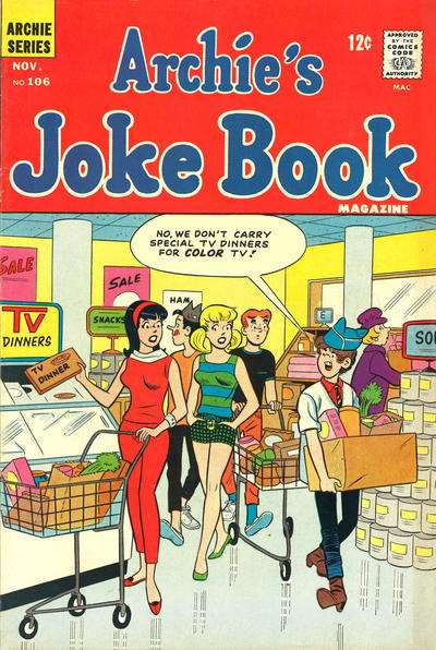 Archie's Joke Book Magazine #106 Comic Books - Covers, Scans, Photos  in Archie's Joke Book Magazine Comic Books - Covers, Scans, Gallery