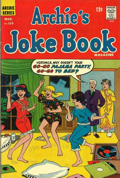 Archie's Joke Book Magazine #110 comic books - cover scans photos Archie's Joke Book Magazine #110 comic books - covers, picture gallery
