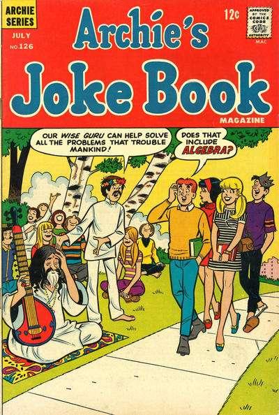 Archie's Joke Book Magazine #126 Comic Books - Covers, Scans, Photos  in Archie's Joke Book Magazine Comic Books - Covers, Scans, Gallery