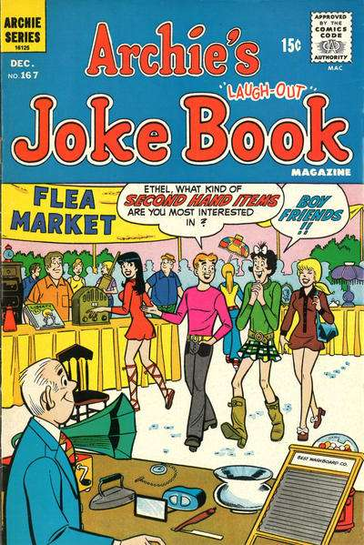 Archie's Joke Book Magazine #167 Comic Books - Covers, Scans, Photos  in Archie's Joke Book Magazine Comic Books - Covers, Scans, Gallery