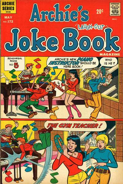 Archie's Joke Book Magazine #172 Comic Books - Covers, Scans, Photos  in Archie's Joke Book Magazine Comic Books - Covers, Scans, Gallery