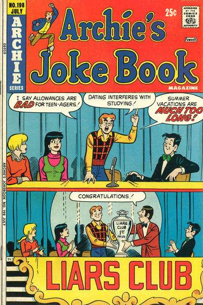 Archie's Joke Book Magazine #198 comic books for sale