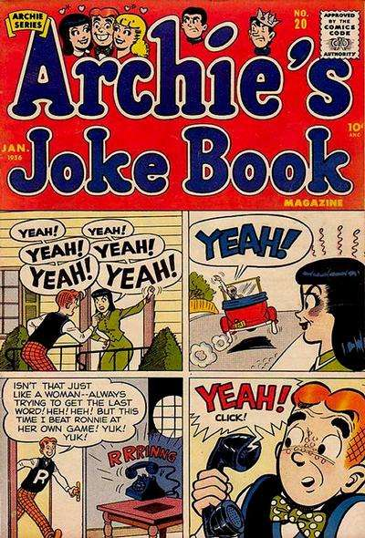 Archie's Joke Book Magazine #20 comic books - cover scans photos Archie's Joke Book Magazine #20 comic books - covers, picture gallery