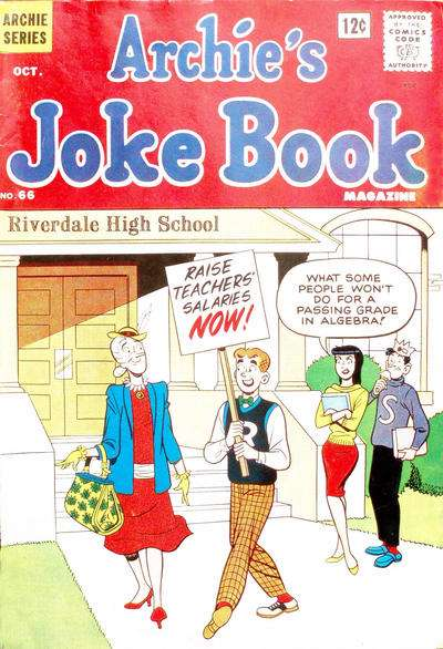 Archie's Joke Book Magazine #66 comic books - cover scans photos Archie's Joke Book Magazine #66 comic books - covers, picture gallery