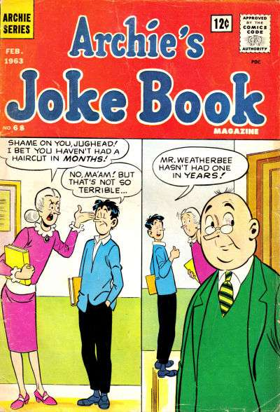 Archie's Joke Book Magazine #68 Comic Books - Covers, Scans, Photos  in Archie's Joke Book Magazine Comic Books - Covers, Scans, Gallery