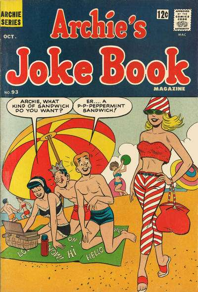 Archie's Joke Book Magazine #93 comic books - cover scans photos Archie's Joke Book Magazine #93 comic books - covers, picture gallery