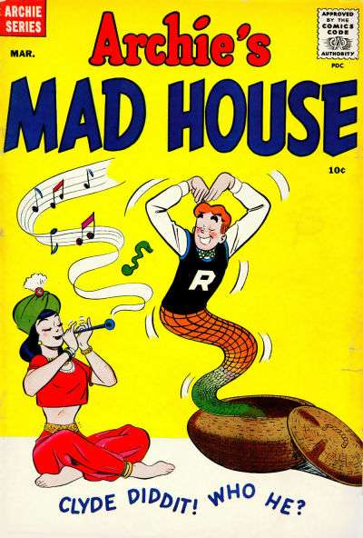 Archie's Madhouse #4 comic books - cover scans photos Archie's Madhouse #4 comic books - covers, picture gallery