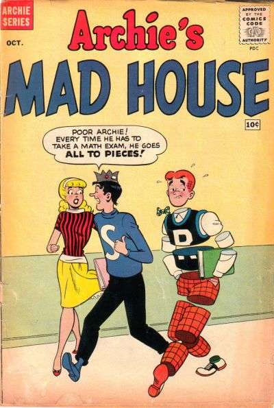Archie's Madhouse #8 Comic Books - Covers, Scans, Photos  in Archie's Madhouse Comic Books - Covers, Scans, Gallery
