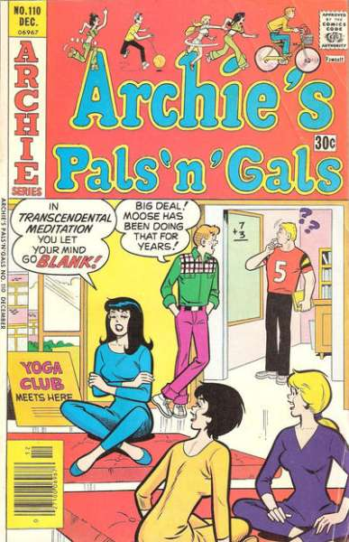 Archie's Pals 'N' Gals #110 comic books for sale