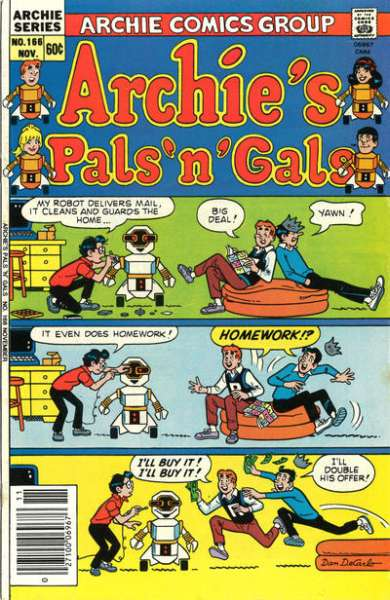Archie's Pals 'N' Gals #166 comic books for sale