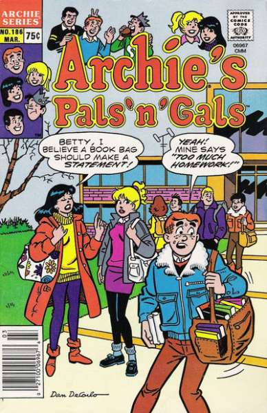 Archie's Pals 'N' Gals #186 comic books for sale
