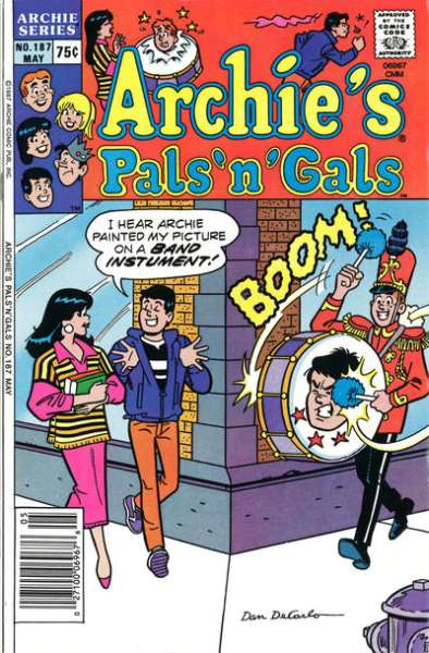 Archie's Pals 'N' Gals #187 comic books for sale