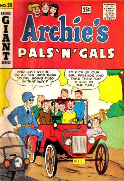 Archie's Pals 'N' Gals #28 comic books - cover scans photos Archie's Pals 'N' Gals #28 comic books - covers, picture gallery