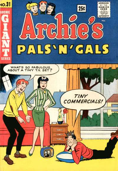 Archie's Pals 'N' Gals #31 comic books - cover scans photos Archie's Pals 'N' Gals #31 comic books - covers, picture gallery